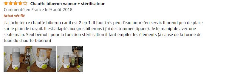 chauffe biberon vapeur + stérilisateur