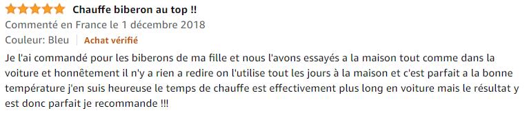 chauffe-biberon Nuk au top